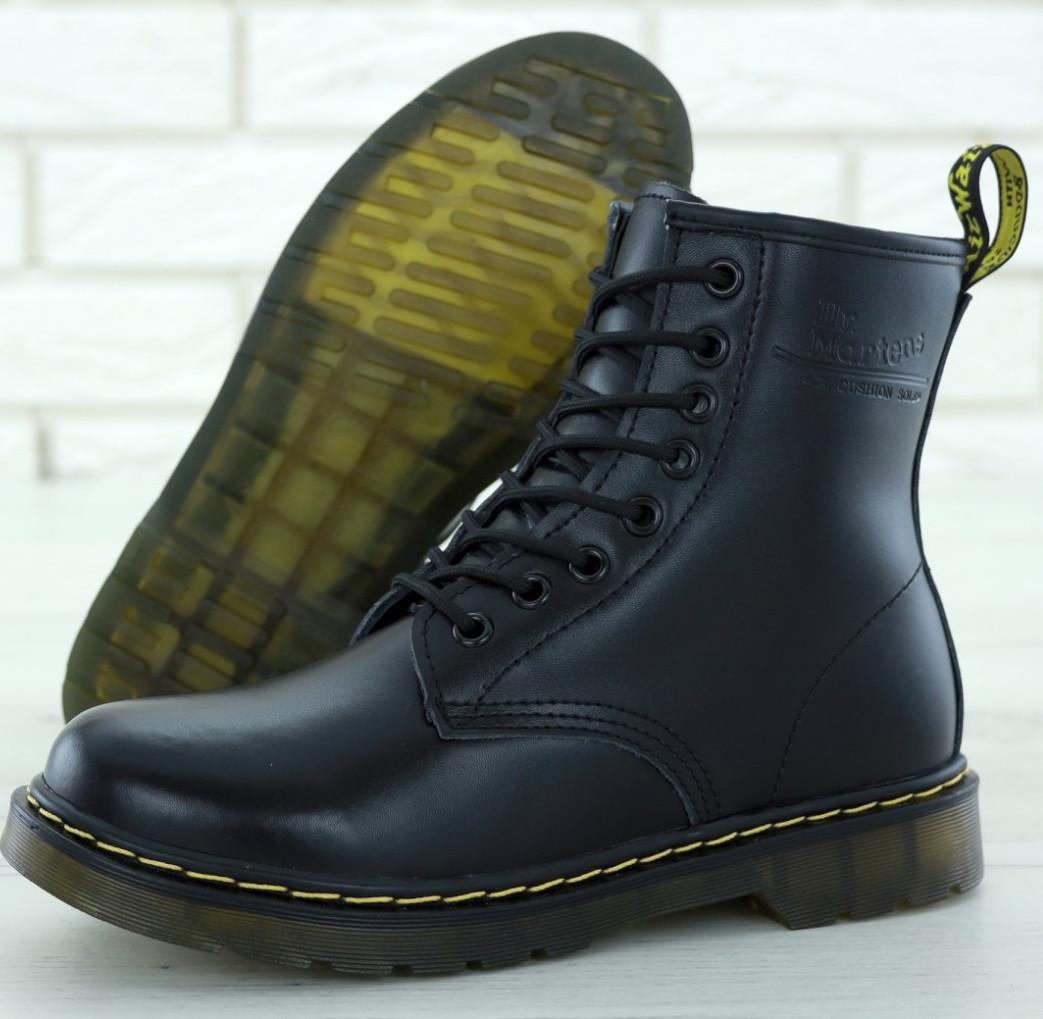 Женские зимние ботинки Dr. Martens 1460 black. Реальное фото. Топ реплика e01f3ca5d114b