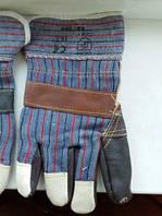 Перчатки комбинированные (замш-кожа+хлопок )