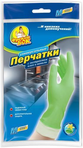 Перчатки Алоє+Ваніль Фрекен Бок с хлопковым  напылением р. М-сред.