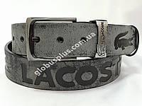 Ремень мужской кожаный LACOSTE ширина 40 мм., реплика 930600