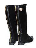 Жіночі замшеві чоботи демісезонні на байку., фото 3