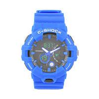 Часы мужские спортивные наручные. C-SHOCK GWL-100 Blue Подсветка, будильник, секундомер.