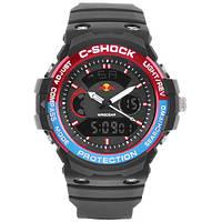 Часы мужские спортивные наручные C-SHOCK GN-1000 Black-Red. Подсветка, будильник, секундомер.