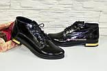 Стильные женские лаковые ботинки, внутри на байке., фото 2