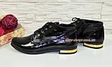 Стильные женские лаковые ботинки, внутри на байке., фото 3