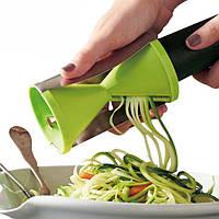 Овощерезка спиральная. Универсальный кухонный инструмент. Двойные режущие лезвия из нержавеющей стали.