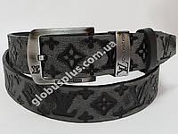 Ремень мужской кожаный LOUIS VUITTON ширина 40 мм., реплика 930602