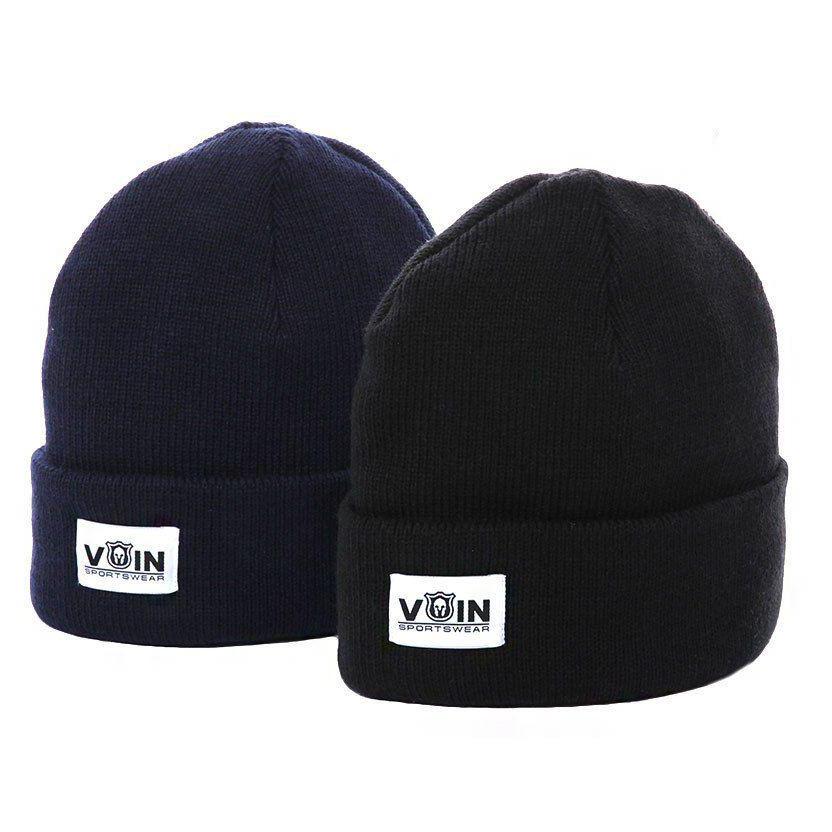 Зимняя шапка синяя унисекс от бренда VoIn