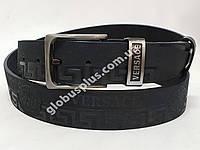 Ремень мужской кожаный VERSACE ширина 40 мм., реплика 930603