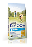 Dog Chow (Дог Чау) Puppy Chicken Сухой корм для щенков с курицей,14 кг