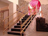 Перила, балконные и лестничные ограждения из нержавеющей стали с покрытием нитридом