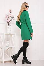 Женское демисезонное пальто зеленого цвета, размер:42,44,46,48, фото 2