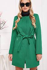 Женское демисезонное пальто зеленого цвета, размер:42,44,46,48, фото 3