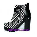 """Женские демисезонные ботинки на тракторной подошве, кожа """"гуси"""", фото 2"""