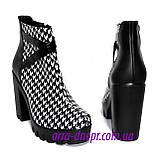 """Женские демисезонные ботинки на тракторной подошве, кожа """"гуси"""", фото 3"""