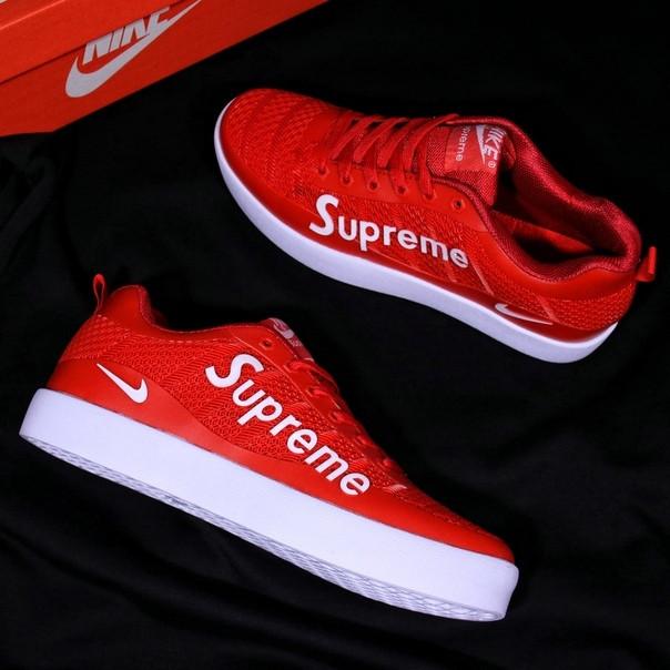 8134bfdd Мужские кроссовки Nike Supreme красно-белые топ реплика: продажа ...