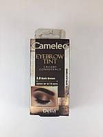 Крем-краска для бровей Delia CAMELEO 3.0 темно коричневая