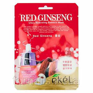 Ekel Red Ginseng Ultra Hydrating Essense Mask, Тканевая маска с красным женьшенем