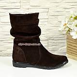 """Жіночі демісезонні коричневі замшеві черевики. ТМ """"Maestro"""", фото 2"""