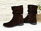 """Жіночі демісезонні коричневі замшеві черевики. ТМ """"Maestro"""", фото 4"""