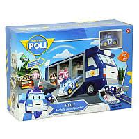 Набор машинок Поли Робокар — Мобильная штаб квартира