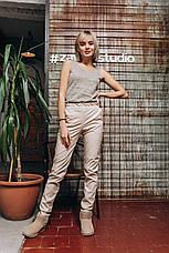 Женские брюки из экокожи на трикотажной основе , фото 3
