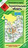 Топографічна карта Тернопільської області 1:200 000