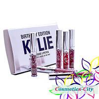 Набор жидких матовых помад Kylie Birthday Edition Mini, фото 1