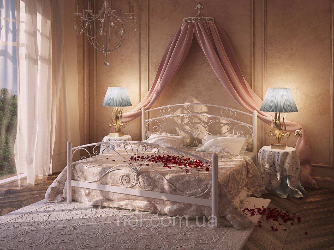Металлическая двуспальная кровать Дармера ТМ Тенеро