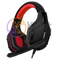 Гарнитура Sven AP-G850MV Black/Red, Mini jack (3.5 мм) 4pin, накладные, адаптер 2x3,5 мм (3 pin), микрофон, кабель 1.2+1 м