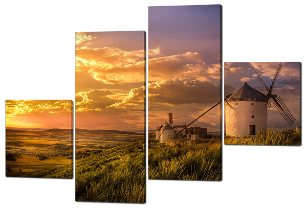 Модульная картина Interno Холст Мельница на холме 106х71см (R336S)