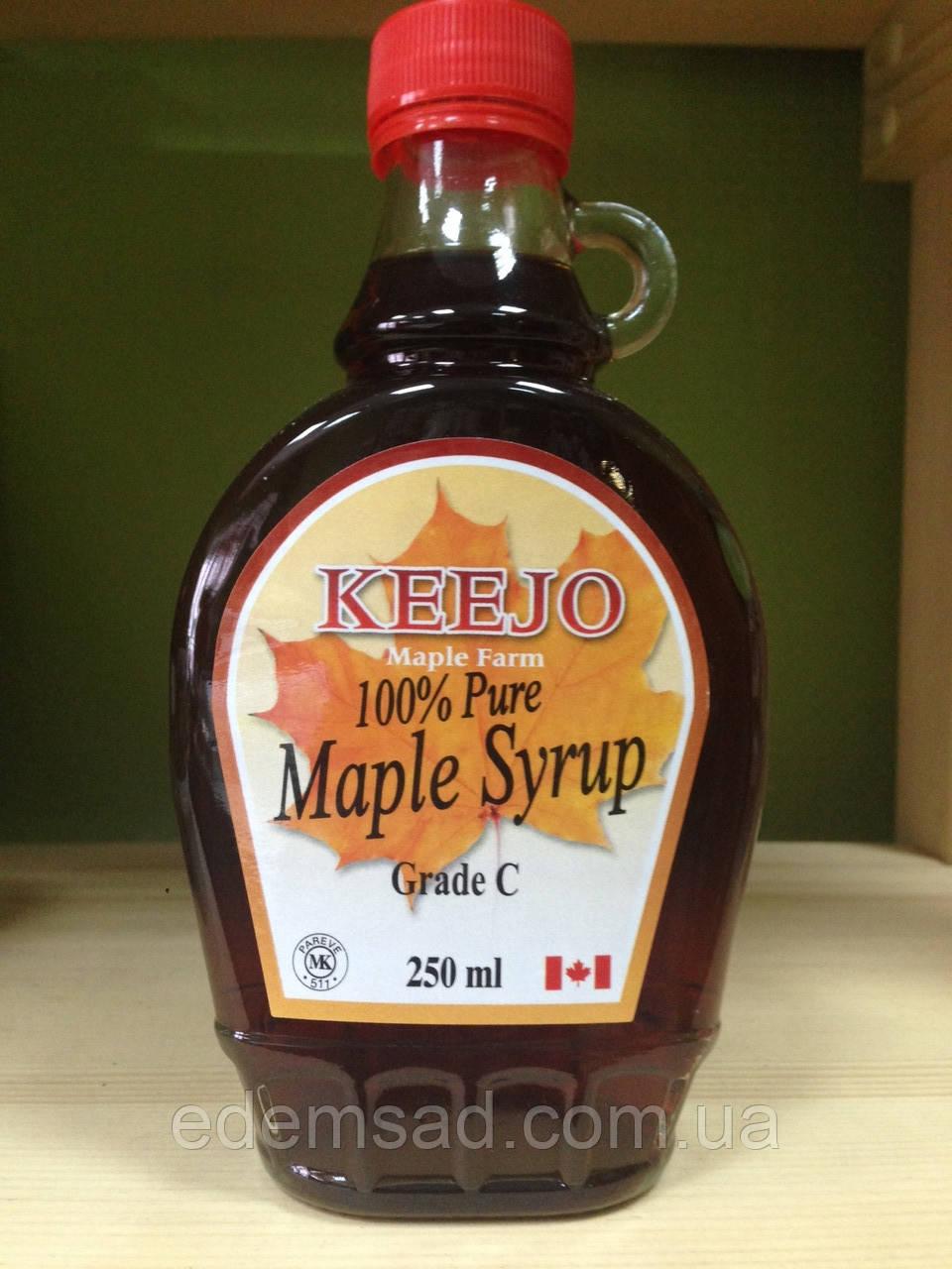 """Кленовый сироп натуральный без сахара, класс С """"Keejo"""", 250мл"""