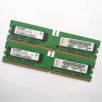 Оперативная память Elpida DDR2 4Gb (2Gb+2Gb) 667MHz PC2 5300U CL5 (EBE21UE8ACWA-6E-E) Б/У, фото 1