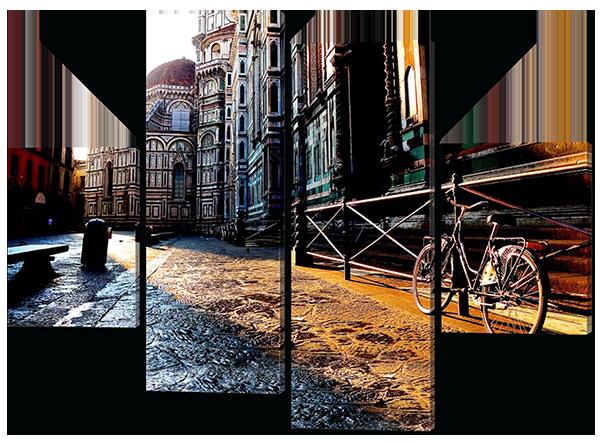 Модульная картина Interno Эко кожа В городе 106х77см (А316S)