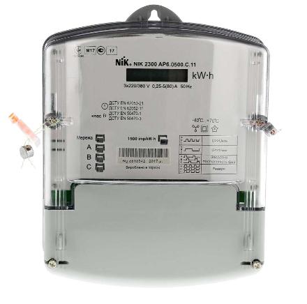 Счетчик электрический NІК 2301 AП2СЕ 5-60А 3x100В трехфазный прямого включения