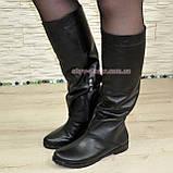 """Кожаные демисезонные женские сапоги """"свободного одевания"""" на небольшом каблучке., фото 4"""