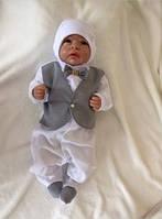 """Роскошный набор на выписку """"Джентльмен"""" для мальчика. Человечек с жилетом и шапочкой"""