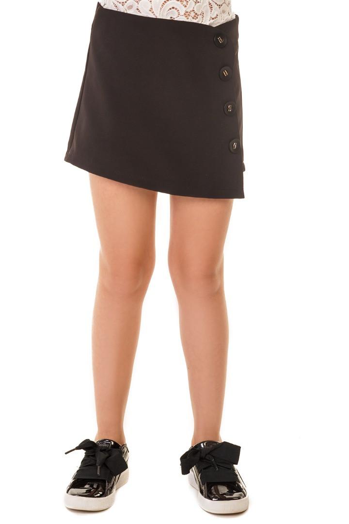Школьная юбка-шорты с пуговицами 128-146 р