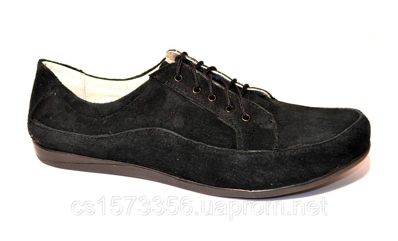 "Туфли женские замшевые на шнуровке. ТМ ""Maestro"""