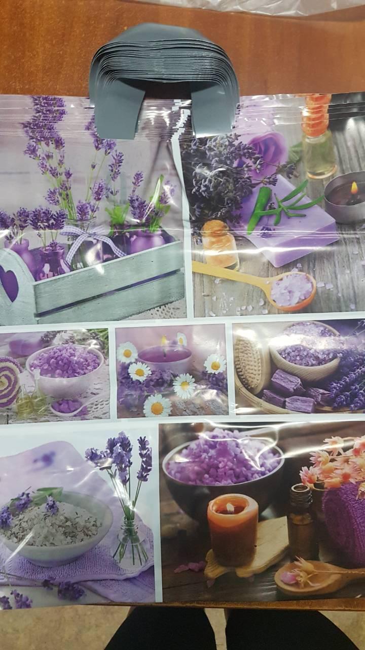 Полиэтиленовый пакет с петлевой ручкой ''Фиолет'', 400*450, 10 шт