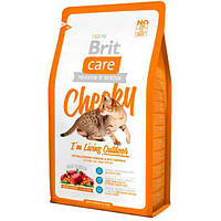 Brit Care Cat Cheeky с олениной и рисом для кошек, живущих на улице 7 кг