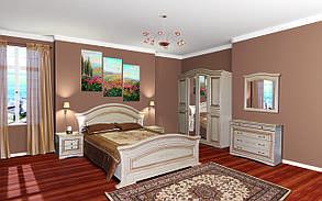 Кровать 2-сп Николь патина 1,6 Белый/Белое дерево патина (Світ Меблів TM), фото 3