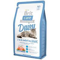 Brit Care Cat Daisy с индейкой и рисом для кошек с избыточным весом 7 кг