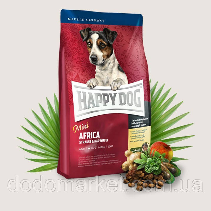 Сухой корм для собак Happy Dog Supreme Mini Africa 4 кг