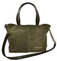 0feb03627a8a Женская зеленая сумка из натуральной замши Michael Kors (23 30 13)