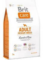 Brit Care Adult Medium Breed Lamb & Rice 12 kg корм супер-премиум класса для собак весом от 10 до 25 кг