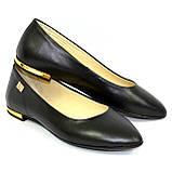 Женские кожаные туфли-балетки с заостренным носком., фото 7