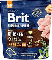 Brit Premium Dog Senior S+M  1 kg корм премиум класса для стареющих собак мелких и средних пород