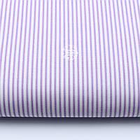 Ткань бязь с мелкой полоской сиреневого цвета (№477а).