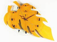 Часы Настенные Фигурные (46х30х5 см) Дерево. Defoliation. Листопад. Желтый